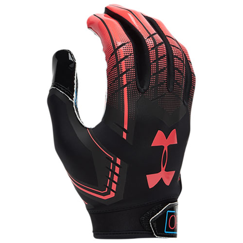 Adult F6 Football Gloves, Black/Red, swatch