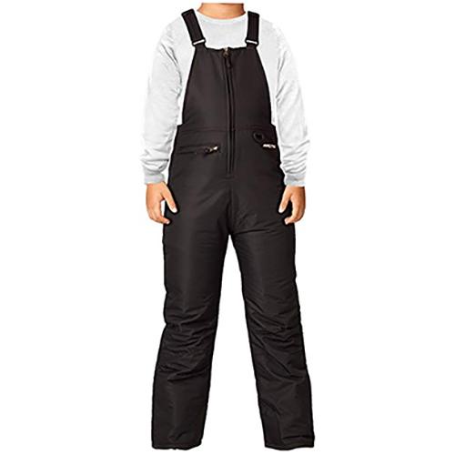 Boys' Insulated Bib Overalls, Black, swatch