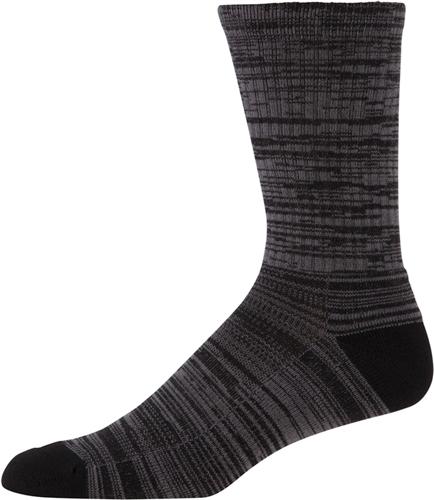 Men's Twist Tech Crew Socks, Black, swatch