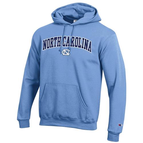 Men's North Carolina Tackle Twill Hoodie, Lt Blue,Powder,Sky Blue, swatch