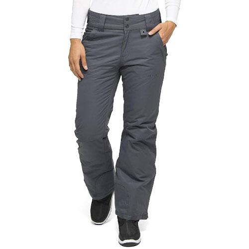 Women's Snow Ski Pants, Gray, swatch