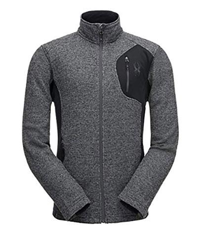 Men's Raider Full Zip Sweater, Heather Gray, swatch