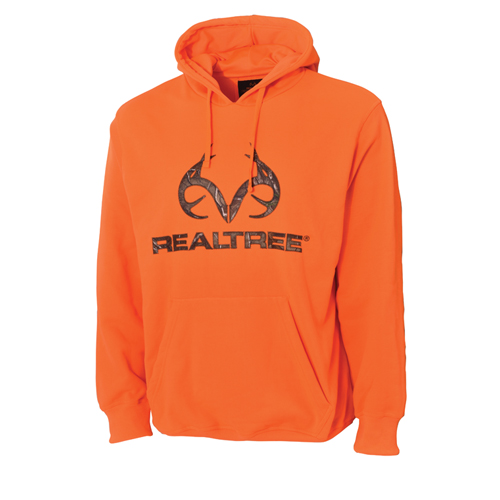 Men's Realtree Logo Hoodie, Orange, swatch