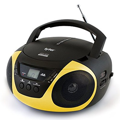Portable Sport Stereo CD Player with AM/FM Radio, Gold, Yellow, swatch