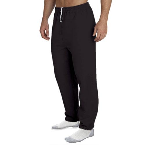 Men's Fleece Pants, Black, swatch
