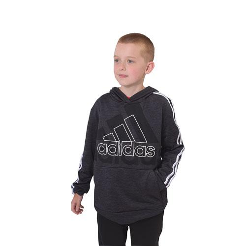 Boys' Statement Badge of Sport Pullover Hoodie, Black, swatch