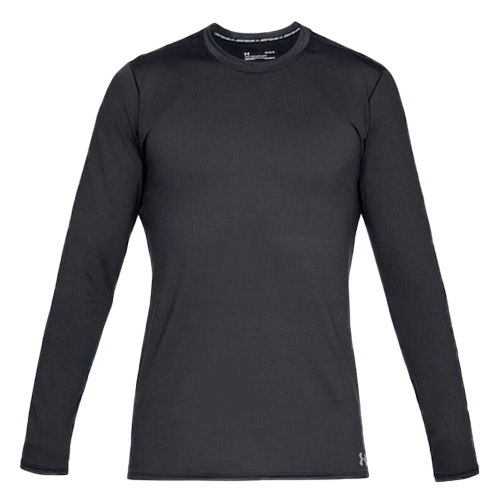 Men's Long Sleeve ColdGear Fitted Crew Top, Black, swatch