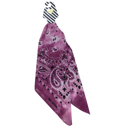 Tie Dye Bandana, Pink/White, swatch