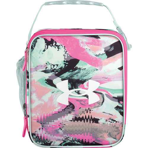 UA Scrimmage Lunch Box, Pink/Gray, swatch