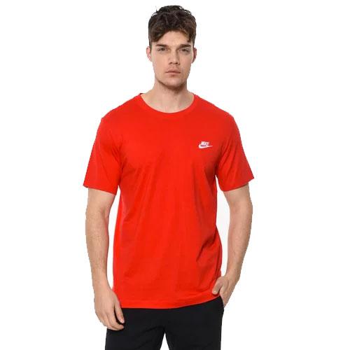 Men's Club Short Sleeve Tee, Red, swatch