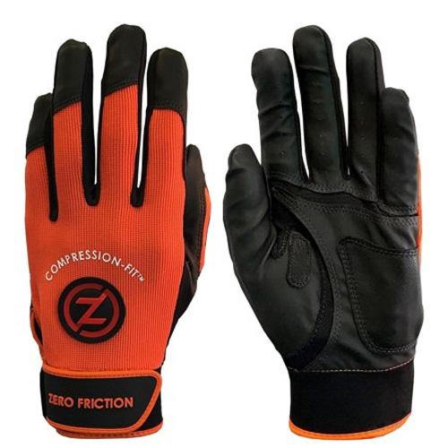 Men's Performance Batting Gloves, Orange, swatch