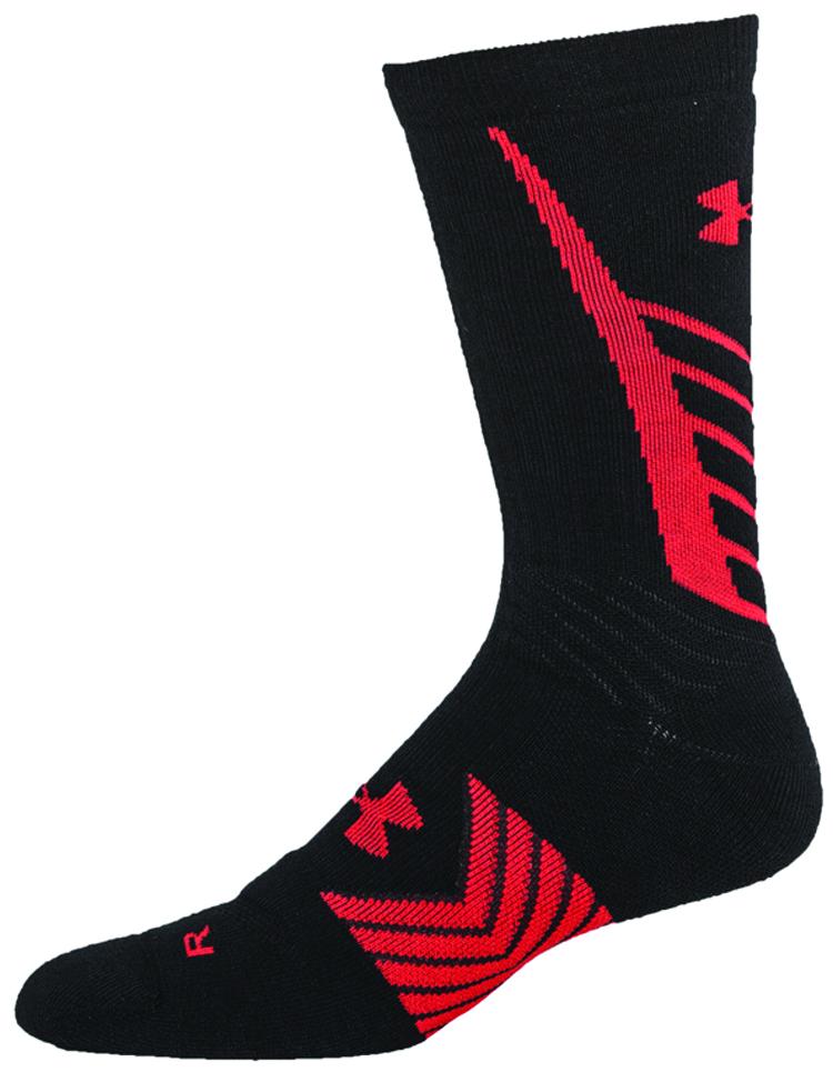 Men's Undeniable All Sport Crew Socks, Black/Red, swatch