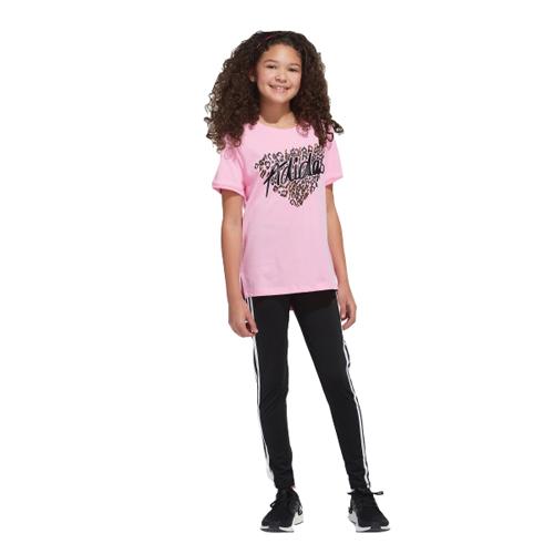 Girls' Short Sleeve Droptail Tee, Pastel Pink,Theatrical, swatch