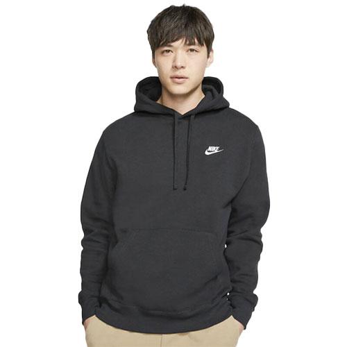 Men's Sportswear Club Fleece Pullover Hoodie, Black, swatch