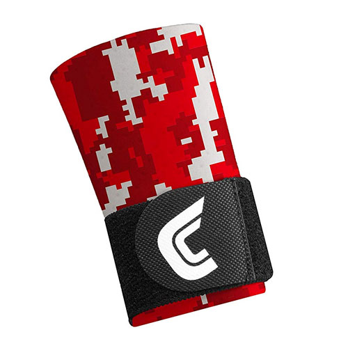 Camo Compression Wrist with Strap, Red, swatch