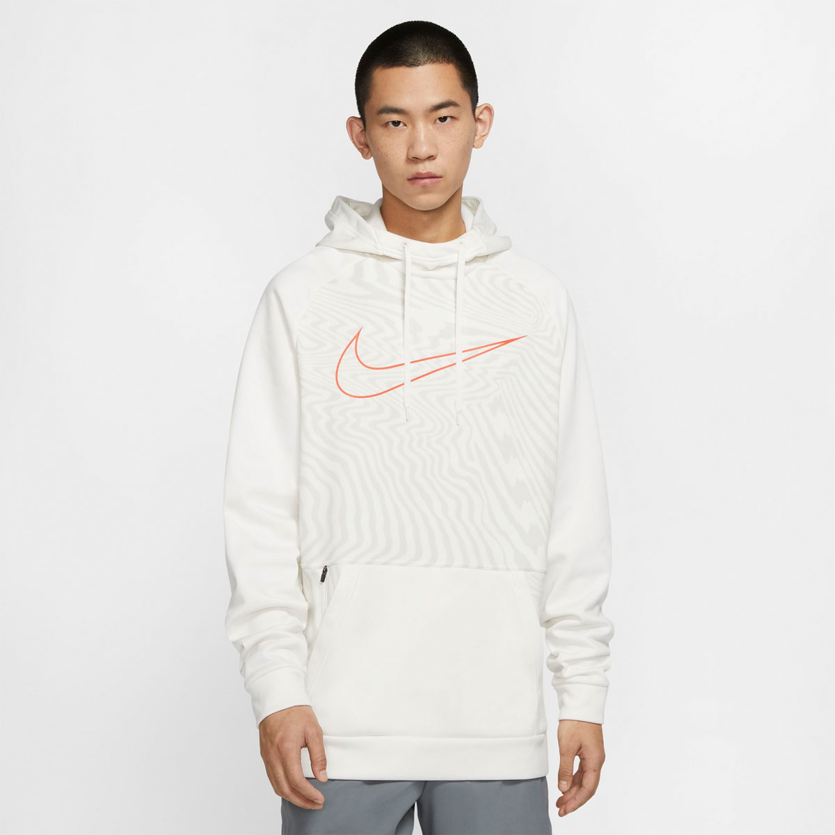 Men's Therma Pullover Fleece Hoodie, White, swatch