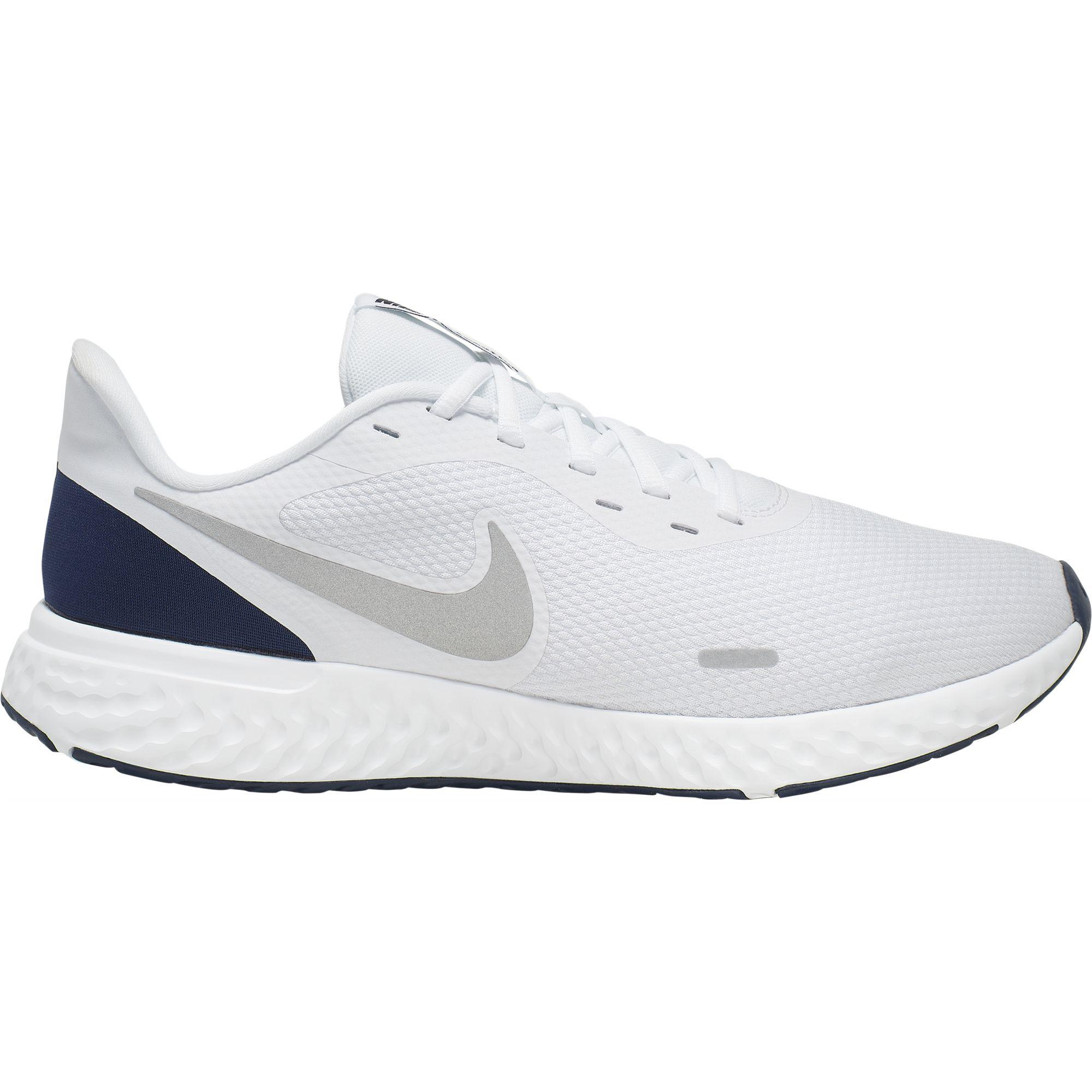 Men's Revolution 5 Running Shoes, White/Navy, swatch
