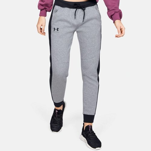 Women's Rival Fleece Graphic Novelty Pant, Heather Gray, swatch