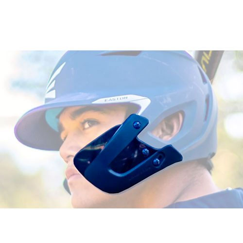 Left-Handed Extended Helmet Jaw Guard, Navy, swatch