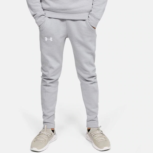 Boy's Rival Solid Jogger, Heather Gray, swatch