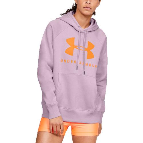 Women's Rival Fleece Sportstyle Graphic Hoodie, Pink, swatch