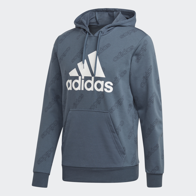 Men's French Terry Hoodie, Navy, swatch