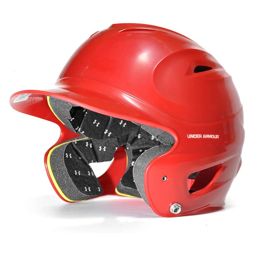 Classic Chrome Batting Helmet, Red, swatch