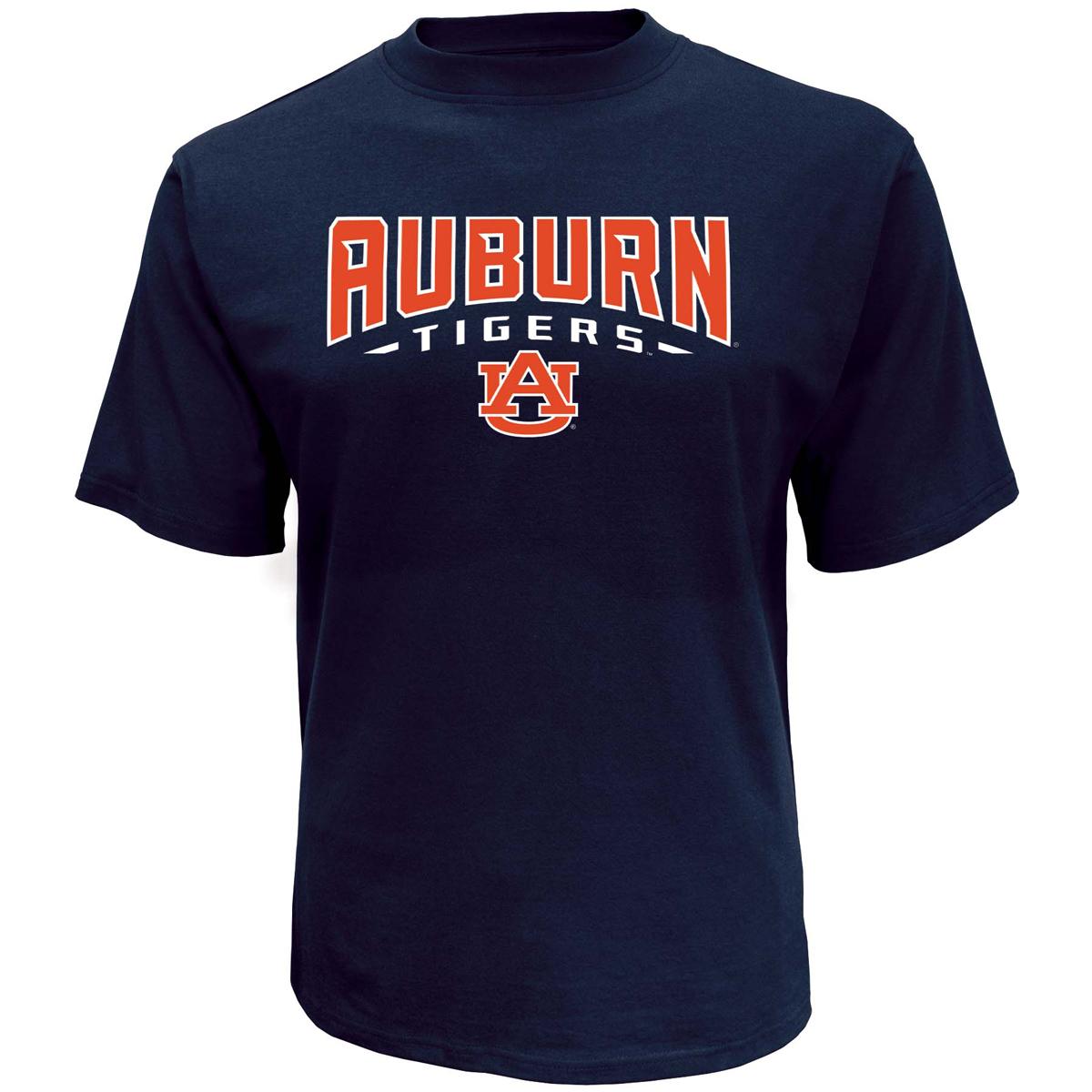 Men's Auburn College Classic Arch Short Sleeve T-Shirt, Navy, swatch