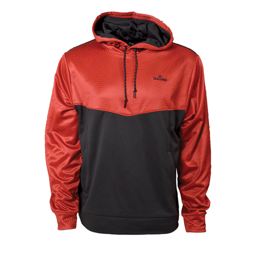 Men's Long Sleeve Pullover Hoodie, Red, swatch