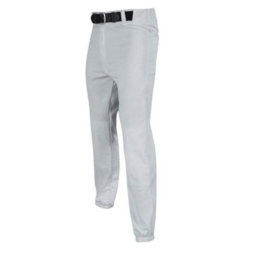 Adult Tunnel Belt Loop Baseball Pants, Gray, swatch