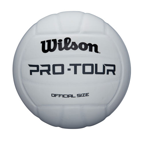 Wilson Pro Tour Indoor Volleyball, White, swatch