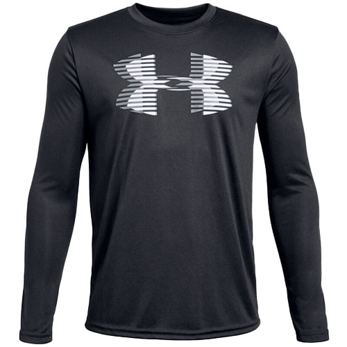 Boy's Under Armour Tech Big Logo, Black, swatch