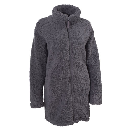 Women's Sherpa Long Coat, Charcoal,Smoke,Steel, swatch