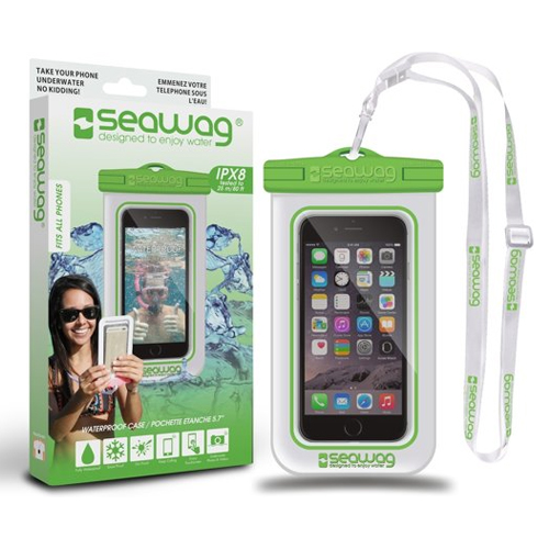Waterproof Smartphone Case, White/Green, swatch