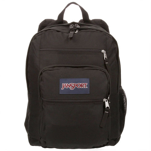 Big Student Backpack, Black, swatch