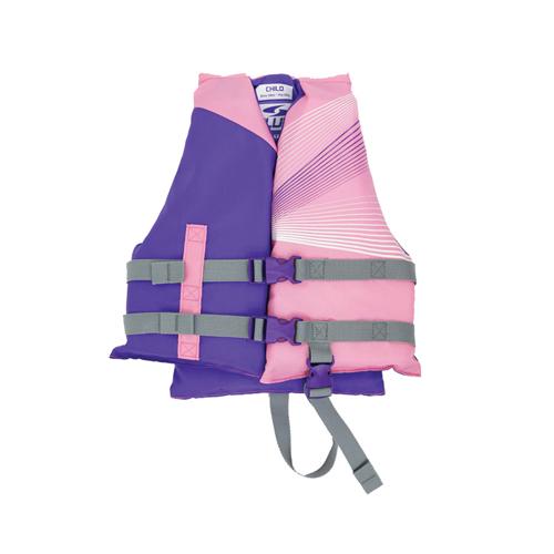 Fluid Child 3 Buckle Vest, Blue/Pink, swatch