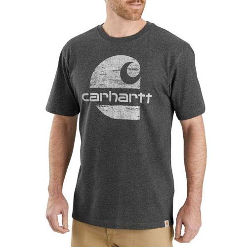 Men's Heavyweight Logo Graphic T-Shirt, Dark Gray,Pewter,Slate, swatch