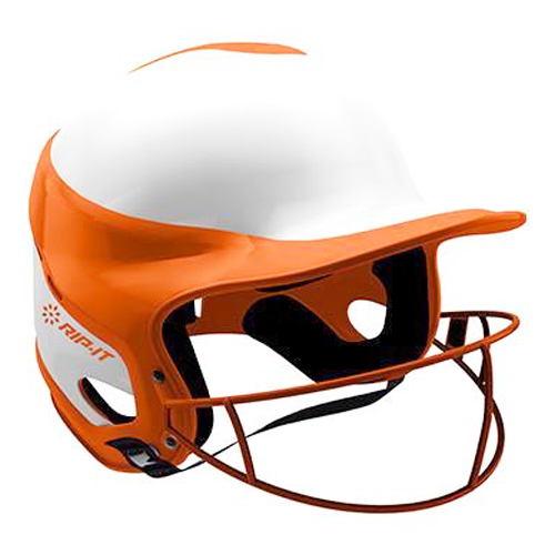 Vision Pro Softball Helmet with Mask, Orange, swatch