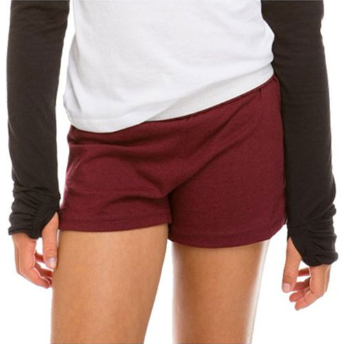 Women's Cheer Shorts, Dk Red,Wine,Ruby,Burgandy, swatch
