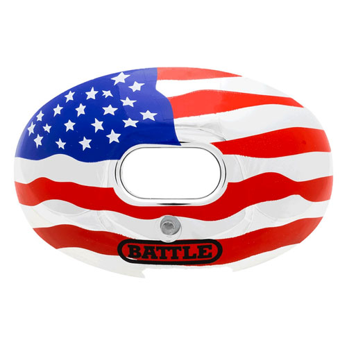 Chrome Graphic Mouth Guard, Red, White And Blue, swatch