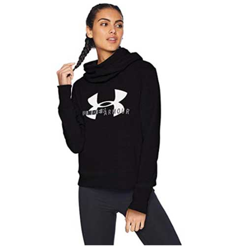 Womens Sportstyle Logo Hoodie, Black, swatch