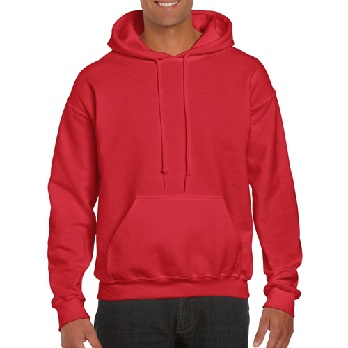 Men's Extdended Sizes Long Sleeve Hoodie, Red, swatch