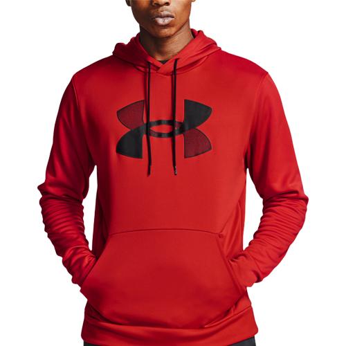 Men's Armour Fleece Big Logo Hoodie, Red, swatch