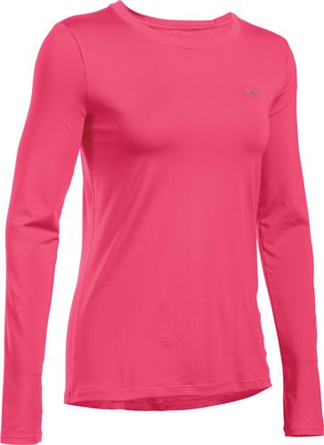 Women's Long Sleeve HeatGear Top, Pink, swatch