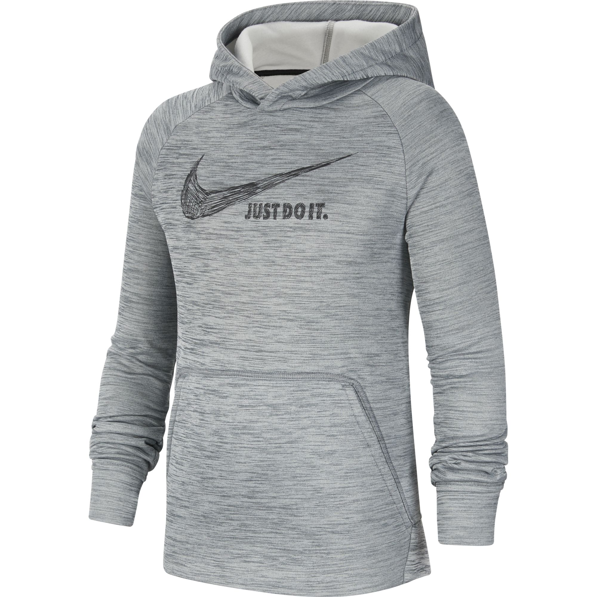 Boys' Graphic Pullover Hoodie, Heather Gray, swatch