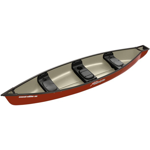Scout Elite 14' Square Stern Canoe, Brown, swatch