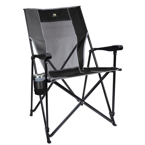 Easy Folding XL Camping Chair, Black, swatch