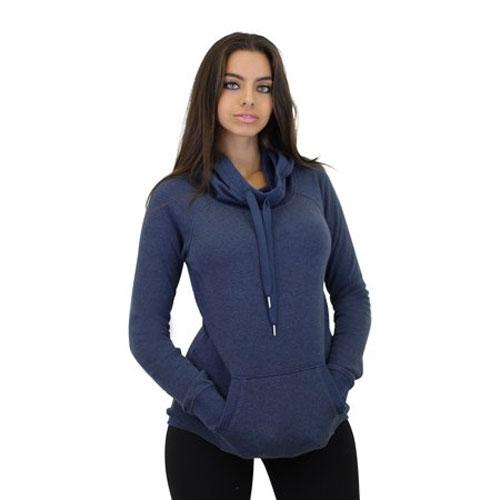 Women's Long Sleeve Pullover Hoodie, Blue, swatch