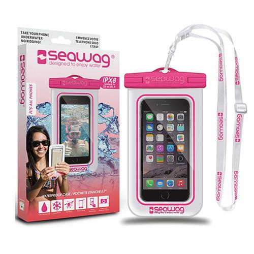 Waterproof Smartphone Case, White/Pink, swatch