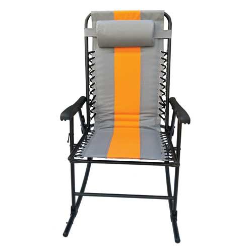 Rocker Lounge Chair, Gray/Orange, swatch